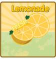 colorful vintage lemonade fresh label poster vector image vector image