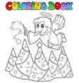 coloring book angel theme image 2 vector image vector image