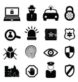 Computer and cyber security icons vector image vector image