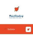 creative heart logo design flat color logo place vector image