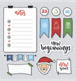 doodle note paper set messages sticky notes notes vector image