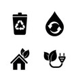 ecology eco simple related icons vector image vector image