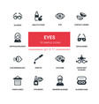 eyes - line design silhouette icons set vector image