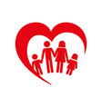 family health care icon vector image vector image