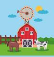 farm fresh cartoon vector image vector image