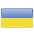 Flags Ukraine in the form of a magnet on vector image vector image