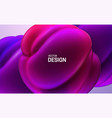 glossy soft shapes abstract 3d background vector image vector image
