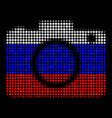 halftone russian photo camera icon vector image vector image