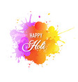 happy holi card with blobs white background vector image