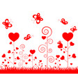 happy valentine day with ornament for decorative vector image vector image