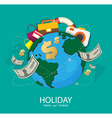 Holiday Travel and Tourism vector image vector image