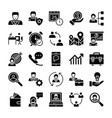 human resources glyphs icons 2 vector image vector image