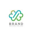 infinity cloud color logo vector image vector image
