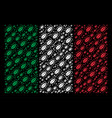 italian flag pattern of cockroach icons vector image vector image