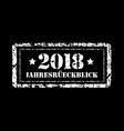 jahresruckblick 2018 review of the year stamp vector image vector image