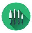 Kitchen knife set icon vector image vector image