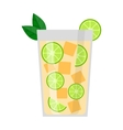 Lime drink vector image vector image