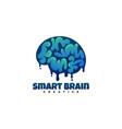 logo smart brain gradient colorful style vector image