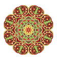 mandala round floral ornament doodle drawing hand vector image vector image