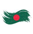 national flag of bangladesh designed using brush vector image vector image