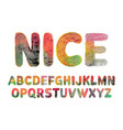 nice water color alphabet vector image