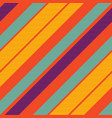 orange pop art colored striped diagonal fabric vector image