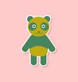 paper sticker on stylish background panda bear vector image vector image