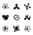 physical core icons set simple style vector image vector image