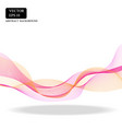 pink smooth curve line design vector image