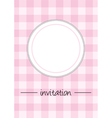 Pink vintage card menu or invitation vector image