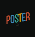 poster font rounded style vector image vector image