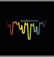 rainbow pulse player logo on black vector image vector image