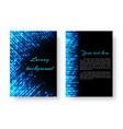 rectangular cover with neon light vector image vector image