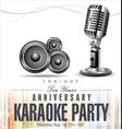 retro vintage microphone anniversary karaoke vector image vector image