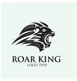 roar lion logo designs vector image vector image