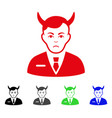 sad satan icon vector image