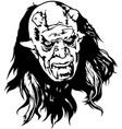 satan head vector image vector image