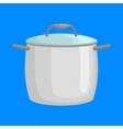 saucepan for cooking food at kitchen empty vector image vector image