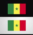 senegal flag banner design vector image vector image