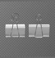 set of realistic white document clips isolated on vector image vector image