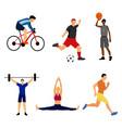 set of sport men vector image