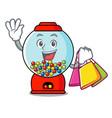 shopping gumball machine character cartoon vector image vector image