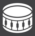 snare drum glyph icon music and instrument vector image