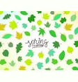 spring is coming concept with leaves vector image vector image