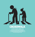 The Elderly On The Crosswalk Symbol vector image vector image