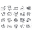 thin line icons set business elements for vector image