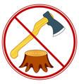 tree felling forbid symbol vector image