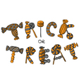 trick or treat lettering vector image vector image