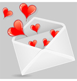 valentine envelopes vector image vector image