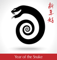 year snake 2013 vector image vector image